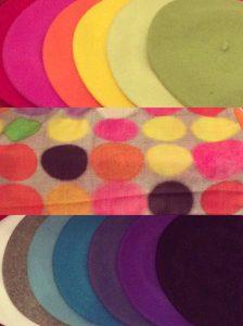 Wool Berets & Patterned Silk Scarf