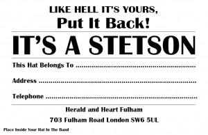 It's A Stetson